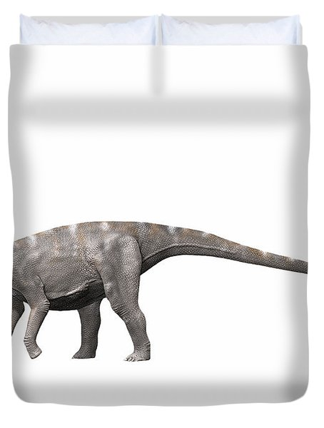 Nigersaurus Taqueti, Early Cretaceous Duvet Cover by Nobumichi Tamura