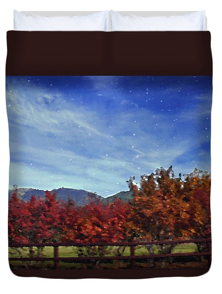 Duvet Cover featuring the photograph Night And Day by Janie Johnson