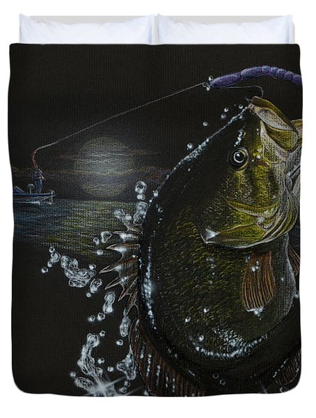 Night Bass Duvet Cover