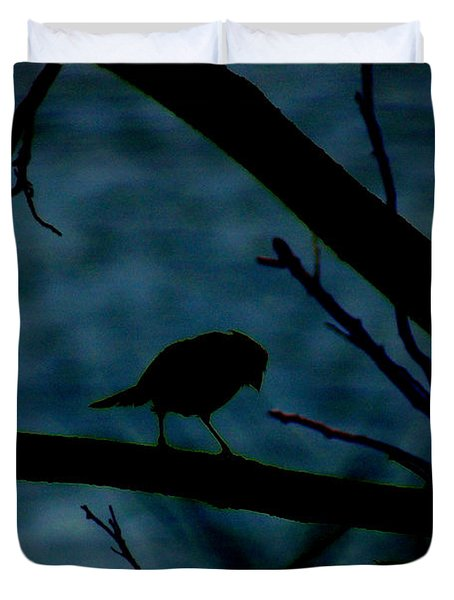 Night Bird Duvet Cover