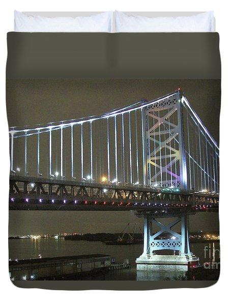 Night Crossing Duvet Cover by Rick  Monyahan