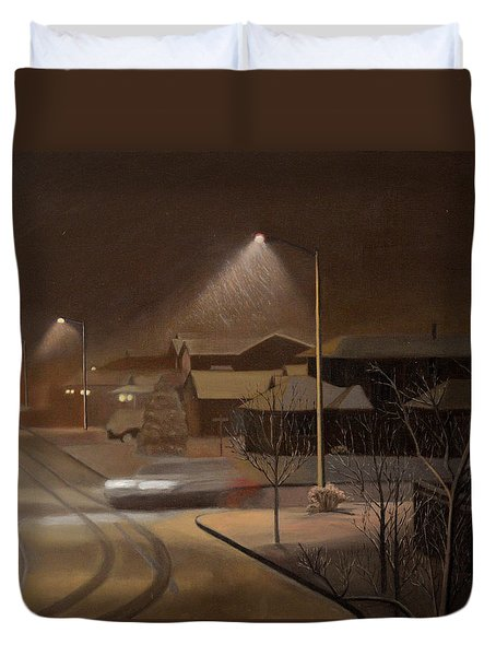 Night Drive Duvet Cover