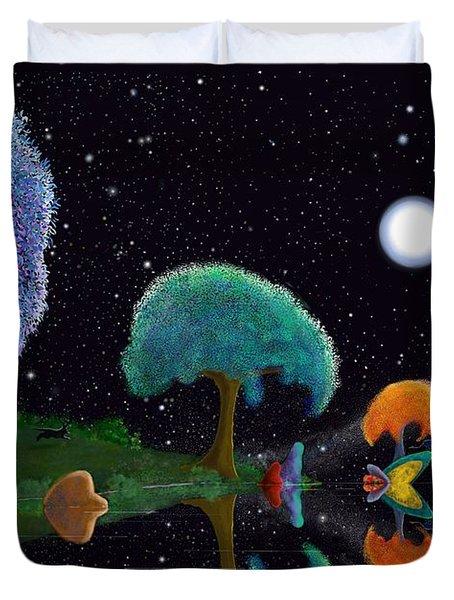 Night Games Duvet Cover