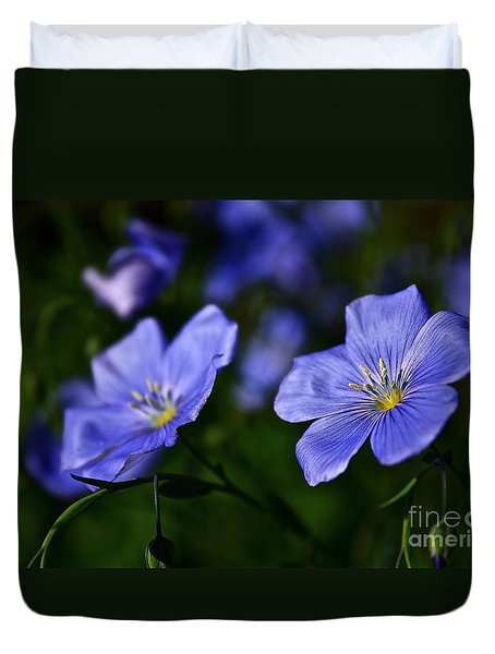 Duvet Cover featuring the photograph Night Garden by Linda Bianic