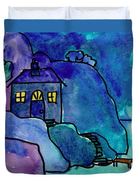Night Harbor Duvet Cover