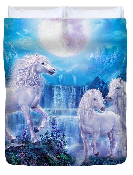 Night Horses Duvet Cover by Jan Patrik Krasny