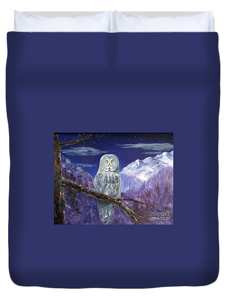 Night Hunter Duvet Cover by Lee Piper