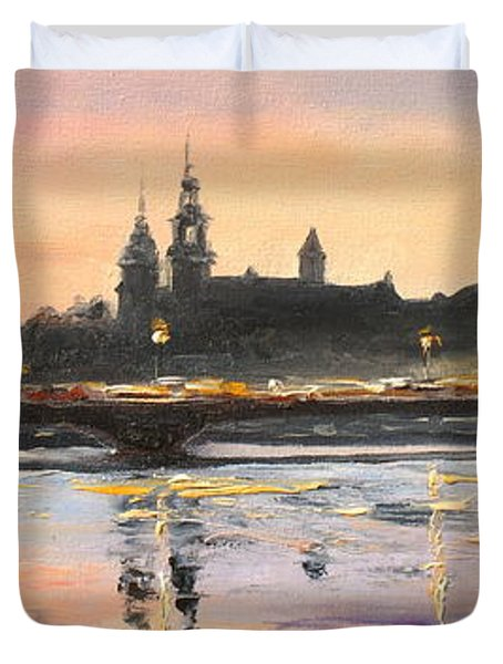 Night In Krakow Duvet Cover