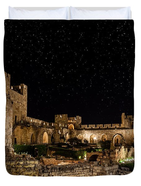 Night In The Old City Duvet Cover