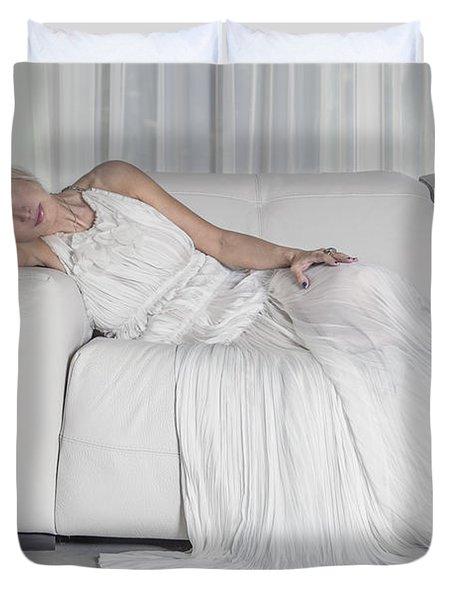 Night In White Satin Duvet Cover