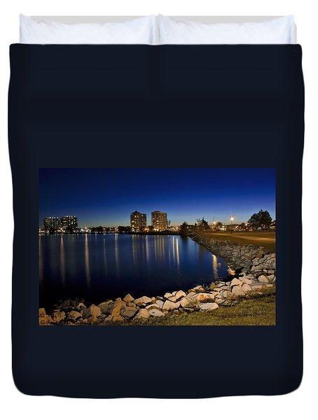 Night Light In Barrie Duvet Cover