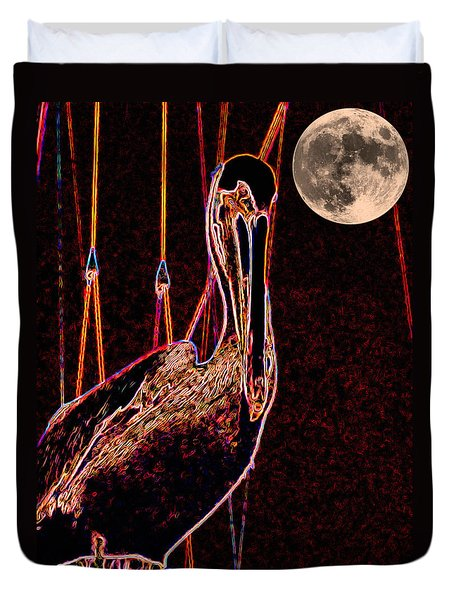 Duvet Cover featuring the photograph Night Light by Robert McCubbin