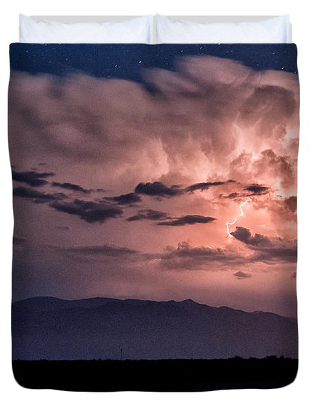 Night Lightning Duvet Cover