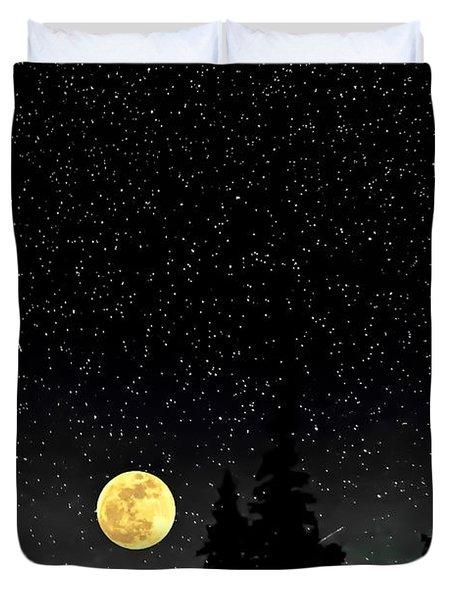 Night Moves Duvet Cover