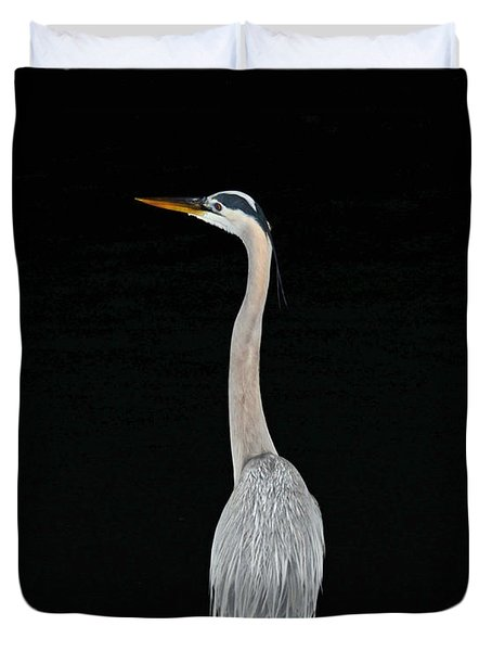 Night Of The Blue Heron 3 Duvet Cover