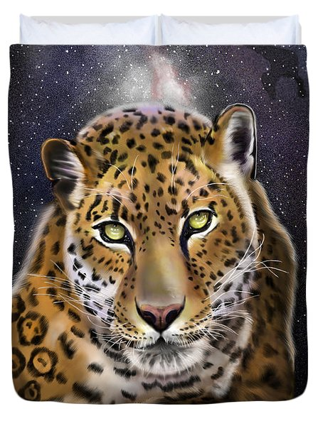 Fourth Of The Big Cat Series - Leopard Duvet Cover