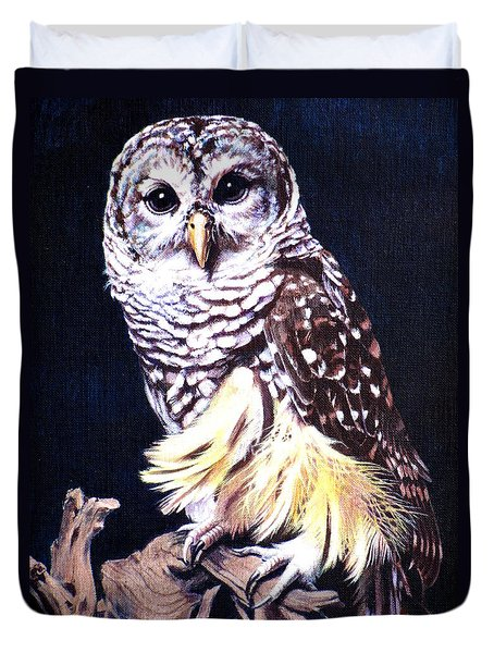 Night Owl Duvet Cover by Vivien Rhyan
