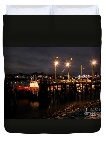 Night Pier Duvet Cover