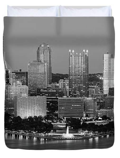 Night, Pittsburgh, Pennsylvania Duvet Cover