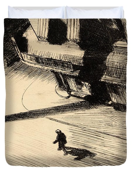 Night Shadows Duvet Cover by Edward Hopper