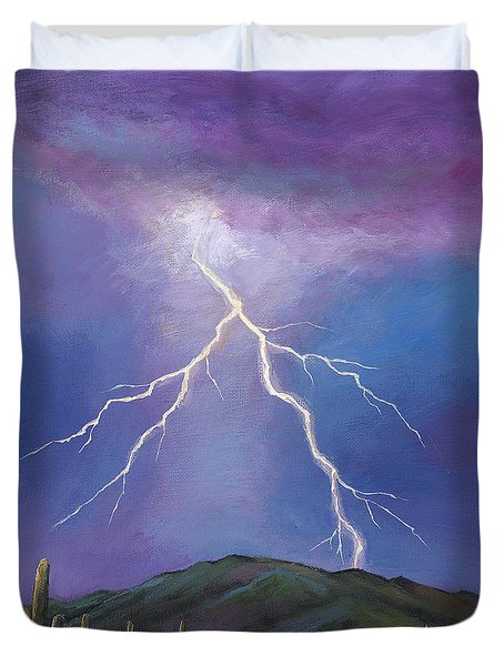 Night Strike Duvet Cover