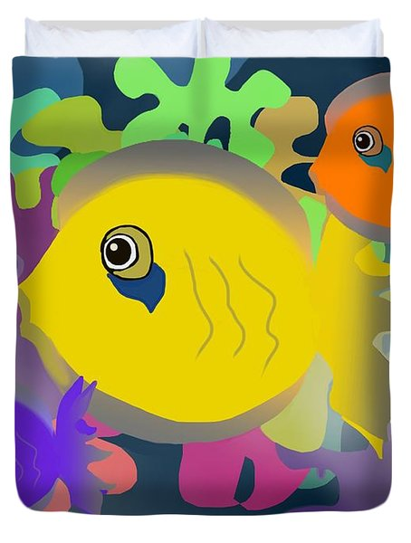 Night Swimming Duvet Cover
