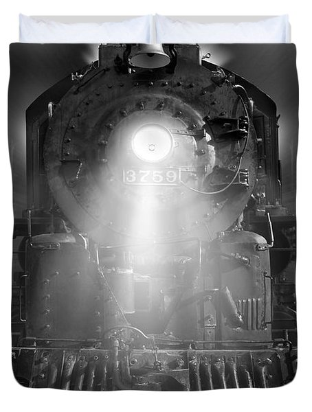 Night Train On The Move Duvet Cover by Mike McGlothlen