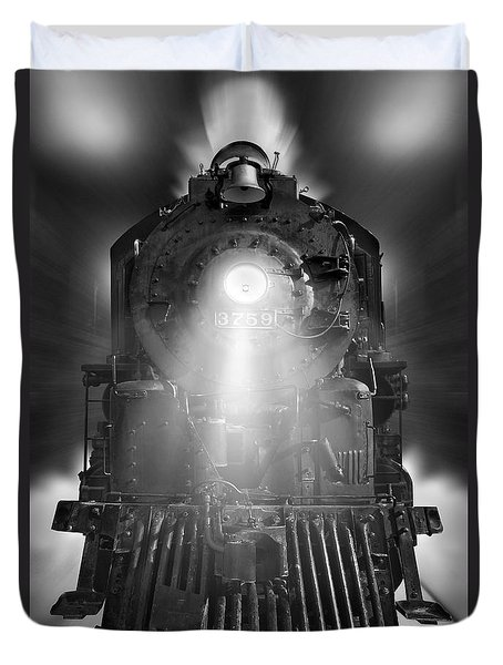 Night Train On The Move Duvet Cover