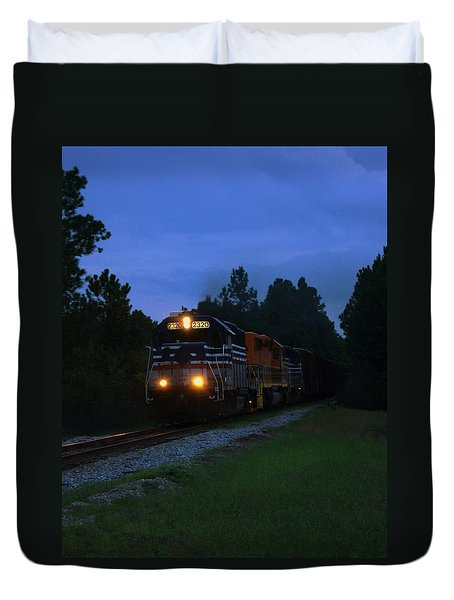 Night Train Duvet Cover by Paul  Wilford