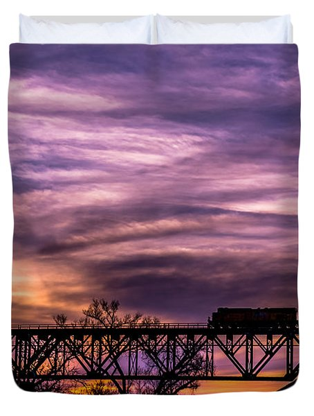 Night Train Duvet Cover