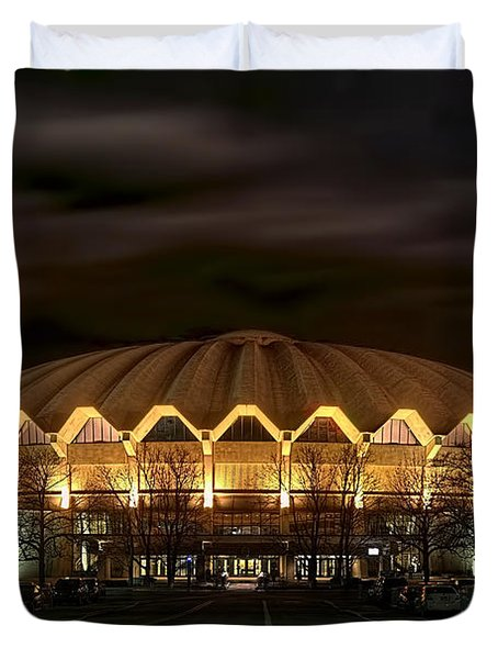 night WVU basketball Coliseum arena in Duvet Cover