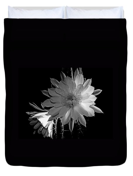 Nightblooming Cereus Cactus Flower Duvet Cover