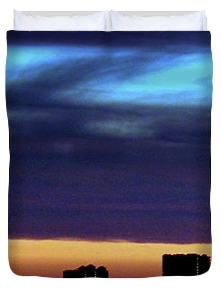 Duvet Cover featuring the photograph Nightfall Over Pensacola Beach by Faith Williams