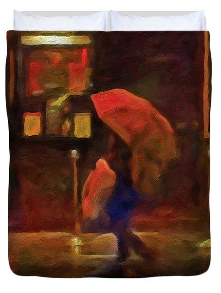 Nightlife Duvet Cover by Michael Pickett