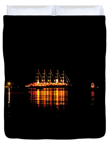 Nightlife On The Water Duvet Cover