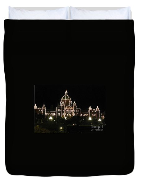 Nightly Parliament Buildings Duvet Cover
