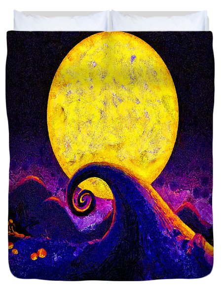 Nightmare Before Christmas Duvet Cover by Joe Misrasi
