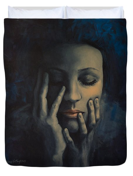 Nights In July Duvet Cover by Dorina  Costras