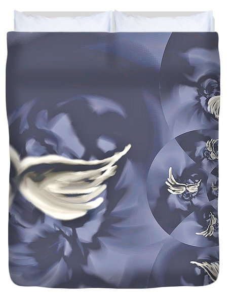 Nights In White Satin Duvet Cover by Absinthe Art By Michelle LeAnn Scott