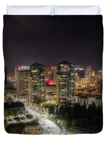 Duvet Cover featuring the photograph Nighttime by Heidi Smith