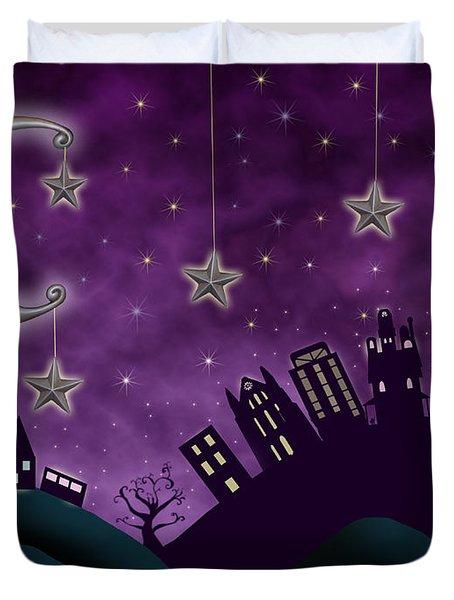 Nighty Night Duvet Cover by Juli Scalzi