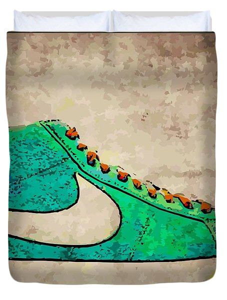 Nike Blazers Duvet Cover by Alfie Borg