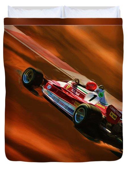 Niki Lauda's Ferrari Duvet Cover