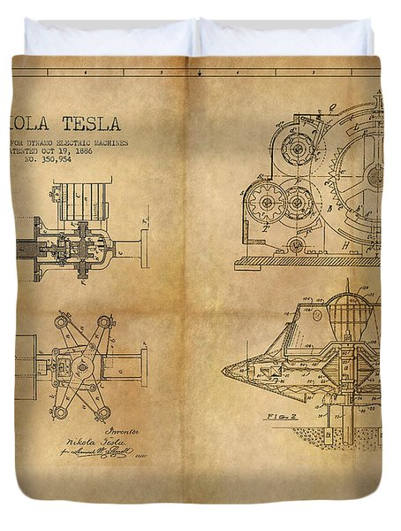 Nikola Telsa's Work Duvet Cover