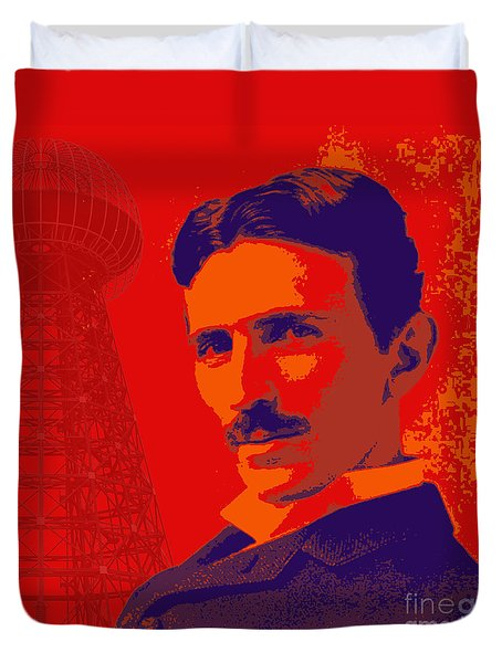 Nikola Tesla #1 Duvet Cover