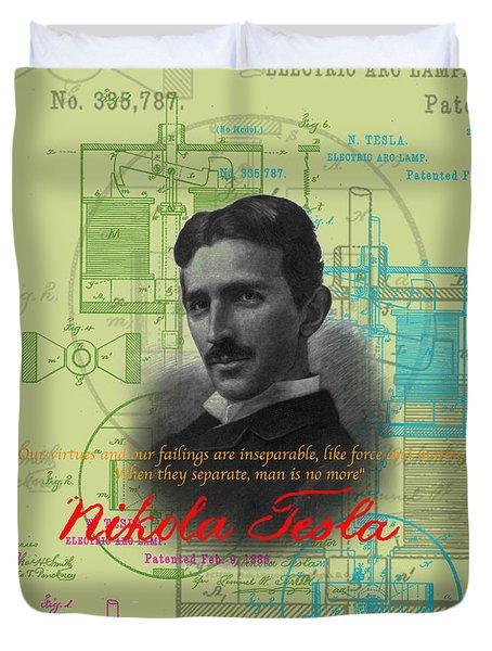 Nikola Tesla #3 Duvet Cover