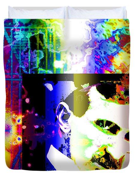 Nikola Tesla  Duvet Cover by Elizabeth McTaggart