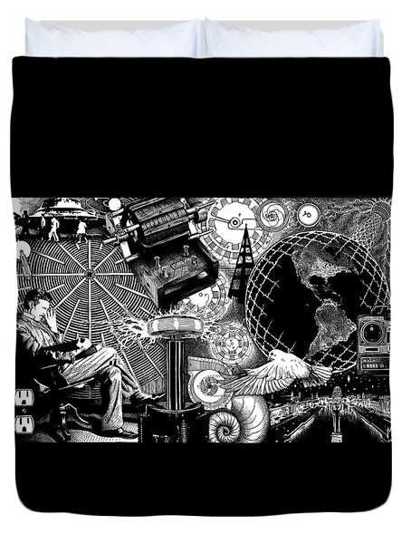 Tesla Duvet Cover by Matthew Ridgway
