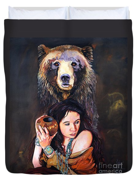 Nine Stars Woman - Bear Medicine Duvet Cover