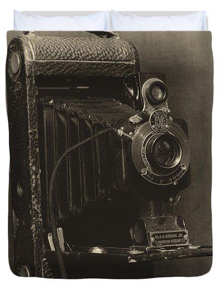 No. 1-a Kodak Jr. Duvet Cover by Leah Palmer